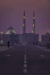 ...... (Explored on July 01st, 2015) (|MBS-..|) Tags: road sunset nikon dubai outdoor uae mosque sharjah reet explored d810 mydubai