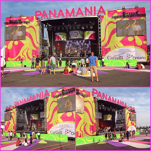 Hey @lights - in 1 week (July20) this is exactly where U will B 4 @toronto2015 #Panamania #PanAm #PanAmazing #TO2015 Right beside #PBV (every time I type Paramania I think of Max Headroom - Paranomia)