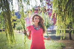 SABRINA (Giulia Gabrieli Fotografia) Tags: pink flowers summer portrait sun white green nature girl face fashion eyes nikon photographer dress moda persone blonde shooting viola ritratti ritratto armani controluce vicenza salice veneto allaperto piangente nikond610