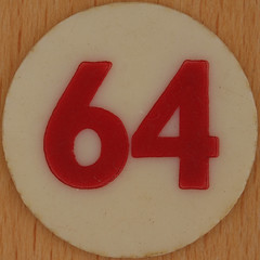 Bingo Number 64 (Leo Reynolds) Tags: xleol30x squaredcircle number numberbingo xsquarex bingo lotto loto houseyhousey housey housie housiehousie numberset 64 sqset120 60s canon eos 40d xx2015xx xxtensxx sqset