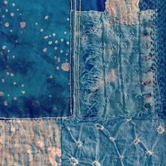 Gold (Caro Ramsey) Tags: handstitching embroidery stiches stitch handmade textileartist boro fabric textileart indigo distressed vintagetextiles textile shibori