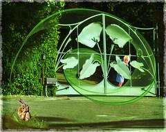 Big Green Gate (bethrosengard) Tags: bethrosengard photomanipulation digitallyenhanced photoart digitalmagic digitalart