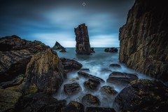 Worn Apart (Augmented Reality Images (Getty Contributor)) Tags: canon clouds coastline landscape leefilters littlestopper longexposure morayfirth portsoy rocks scotland seascape seastack water waves