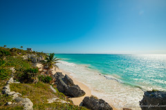 Mayan Ruins of Tulum, Quintana Roo, Mexico (Classicpixel (Eric Galton) Photography Portfolio) Tags: mayan maya ruins tulum ruines caraibes caribbean sea mer seascape landscape paysage océan ciel sky blue bleu nikon 14mm d800e ericgalton classicpixel