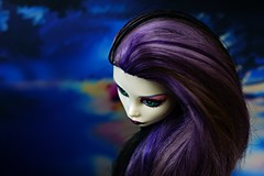 Stranger on the shore (Allan Saw) Tags: monsterhigh spectravondergeist ghost poltergeist girl doll toy portrait head shot closeup lake lonely outdoors colour color