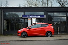 Ford Fiesta ST-Line (arjendebok) Tags: ford fiesta st line hot hatch red black tank station nikon d5100 rrjendebok arjen de bok viersprong vinkeveen broekhuis zeist dealer