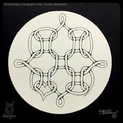 Zentangle® : Weekly Challenge 304 : Waybop (ha! designs) Tags: 2017 hadesignszentangle hadesigns zentangle divasweeklychallenge divachallenge waybop illustration doodle art tangle zendala heart