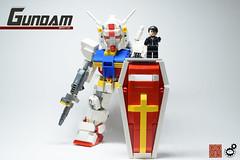 4. Gundam Scale 1 (Sam.C (S2 Toys Studios)) Tags: rx782 gundam mobilesuit legogundam lego moc samc s2toys 80s scifi mecha anime japan spacecraft