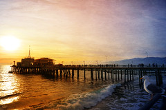 Enjoying the view on the Santa Monica pier (bethrosengard) Tags: bethrosengard photomanipulation digitallyenhanced photoart digitalmagic digitalart