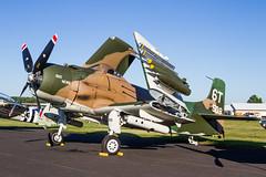 USAF Douglas AD-1 Skyraider '52-509'/N2AD '6T' 'Bad News' (Hugh Dodson) Tags: eaaairventure2016 oshkosh oshkosh2016 usaf douglas ad1 skyraider 52509 n2ad 6t badnews
