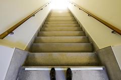 Vertigo (CoolMcFlash) Tags: stairs pov pointofview shoes personalperspective fujifilm xt2 indoors stufen treppen blickwinkel schuhe perspective perspektive light licht fotografie photography xf 1024mmf4 r ois architecture handrail geländer