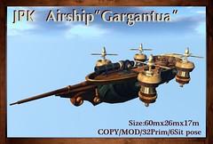 """**JPK Airship """"Gargantua"""" (hekirekika2017) Tags: steampunk airship fantasy ship gargantua dieselpunk jpk secondlife"""