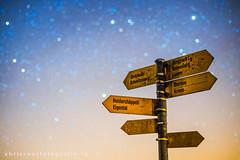 signpost to the stars (chrisroosfotografie) Tags: signpost chrisroosfotografiech stars guide night nightphotography starsphotography sky bluesky cold coldnight sterne nacht nachtaufnahme wegweiser schweiz switzerland lucerne