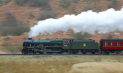 Scot at Speed (Treflyn) Tags: panned pan shot 46100 royalscot north yorkshire moors matt fisher photo charter