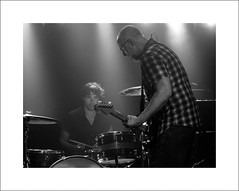 Bob Mould & Jon Wurster (Mr sAg) Tags: music rock manchester concert live sugar loud sag alternative manchesteracademy3 huskerdu bobmould simonharrison mrsag