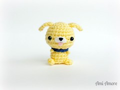 Yellow Pup (denae.amiamore) Tags: cute animals stuffed handmade crochet adorable plush yarn plushies kawaii amigurumi