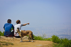 Over there..... (afternoon_dillight) Tags: mountain look see spring view hiking top korea hike rest hikers