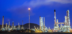 Oil refinery (anekphoto) Tags: auto lighting sunset chimney plant color tower industry ecology metal night dark construction energy industrial factory technology power diesel smoke tube greenpeace engineering automotive stack steam gas business smokestack pollution chemistry oil production environment petrol carbon protection distillery refinery economy pipeline built chemical supply petroleum manufacture distillation petrochemical