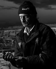 Nazmi Balk (zgrKareler) Tags: old blackandwhite bw house fish man boat blackwhite wooden fisherman speedlight onelight