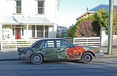 Holden Commodore Berlina (stephen trinder) Tags: newzealand christchurch landscape graffiti paint nz commodore custom kiwi holden paintjob berlina thecarsofchristchurch