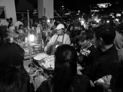 baguio city street food (.emong) Tags: street people bw food monochrome work lumix philippines photojournalism documentary panasonic baguio lx3