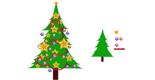 Download christmas tree vector free