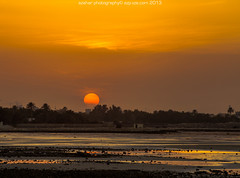 The Sun (azahar photography) Tags: sunset sun dawn bahrain alseef visitbahrain