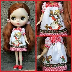 Vintage hanky babydoll dress