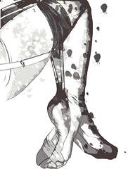 TAME (MFNY) Tags: sexy art stockings illustration painting graphicdesign legs drawing fineart computerart illustrator splatter mfny