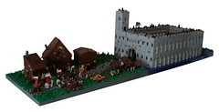 02 (CyberPacket) Tags: wood bridge party horse house tree tower castle classic rock wooden war king village lego forrest battle medieval well drawbridge forge stable moc
