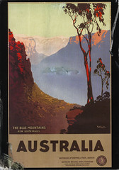 postcard - from Telopea, Australia (Jassy-50) Tags: postcard postcrossing australia bluemountains newsouthwales nsw travelposter poster vintagereprint damaged unescoworldheritagesite unescoworldheritage unesco worldheritagesite worldheritage whs
