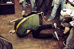 Castrovalva @ The Sunflower Lounge 4 (preynolds) Tags: back concert birmingham audience gig livemusic dirty woodenfloor bassplayer onthefloor bentover onhisknees bassguitarist fallendown inthecrowd tamron1750mm canon600d surroundedbypeople birminghampromoters distortedtapes