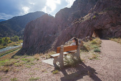 IMG_1411 (Wildsight Photography) Tags: city girl canon river bench colorado overlook tunneldrive