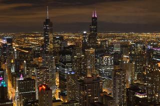 Night city scape