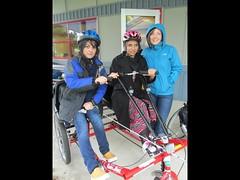 Riding Bikes with MIUSA staff (Mobility International USA) Tags: pakistan women blind smallgroup active 2013 lowvision jamierivas