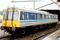 122100 Exeter St Davids 23.08.92 (jonf45 - 2.5 million views-Thank you) Tags: st br rail trains class exeter bubble british railways regional davids 122 dmu no122100