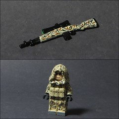BallisticBrickCustoms (Tomcat Bobcat) Tags: brick soldier photo cool war desert arms lego scope sniper ghillie brickarms
