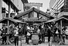 Business is brisk (tootdood) Tags: street xmas blackandwhite house witch candid markets business brisk newcathedralstreet canon600d monovember