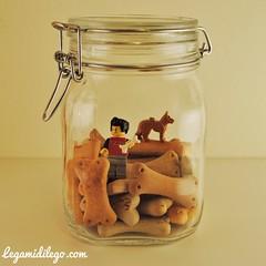 ossa L (Legamidilego) Tags: dog glass cookie lego jar feed preserves bisquits minifigure ossa osso biscotto vasetto legamidilego