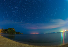 Onna Village star trails (Michael Anthony Jpn) Tags: ocean blue sea japan wow reflections colorful circles fisheye okinawa omg startrails 1dx 815mm