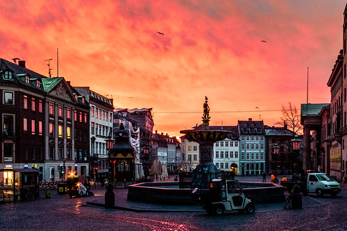 "Sky on fire over Copenhagen's Nytorv • <a style=""font-size:0.8em;"" href=""http://www.flickr.com/photos/72423171@N00/11122540353/"" target=""_blank"">View on Flickr</a>"