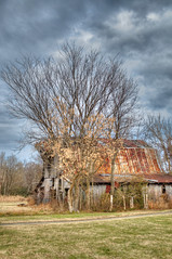 DMT_20101224130054 (Felicia Foto) Tags: blue trees windows winter red sky usa brown green nature field grass horizontal architecture clouds barn rural america fence geotagged nikon rust farm tennessee country hdr highdynamicrange ruraldecay allrightsreserved eagleville photomatix americaamerica middletennessee 1xp rutherfordcounty hdrsingleraw d5000 nikonhdr arethesebuildings denisetschida eaglevilletn