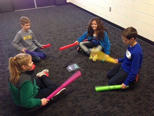 Making a song with Boomwhackers by Wesley Fryer, on Flickr
