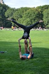 Picking Up Women In Central Park (Joe Shlabotnik) Tags: nyc newyorkcity centralpark manhattan acrobats sheepmeadow 2013 september2013