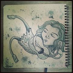 Viajando - sketchbook finish. (Coró AgaVe) Tags: music art ink square sketch sketchbook squareformat unknown indianink nanquim iphoneography instagramapp uploaded:by=instagram coroagave
