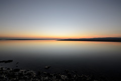 Serenity Bay (stumpyheaton) Tags: uk sunset sea england sky sun seascape beach water night outside bay kent sand nikon sigma lancashire morecambe channel silverdale carnforth d5100