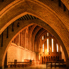 Inside Quarr Abbey, Isle of Wight (yng) Tags: uk zeiss sony 28mm hampshire contax isleofwight hdr 2014 biogon ilce alpha7 quarrabbey contaxgzeiss28mmf28biogon