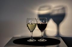The square, The circle, The white wine, The red wine, The shadow, the light (jonasdm) Tags: creativity wine vin creatividad vino wein gegenstze kreativitt kreativitet modstninger
