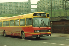 PMT Leyland National 2 DP47F 302 A302JFA leaves Sheffield Pond Street Bus Station (John Hague) Tags: sheffield leyland potteries pmt leylandnational leylandnational2 potteriesmotortraction a302jfa