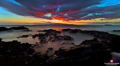 Kaho'olawe Reflections (Thncher Photography) Tags: longexposure sunset nature clouds reflections landscape outdoors island hawaii nikon secretbeach scenic silhouettes maui tropical fullframe fx d800 waterscape makena nikond800 paakobeach leebigstopper nikon1635mmf4gedvriiafsnikkor